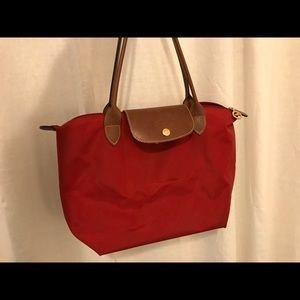 Longchamp Le Pilage Small Bag Red